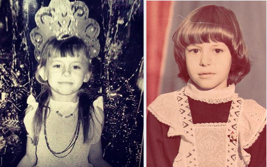 Фото Оксаны Лаврентьевой в детстве