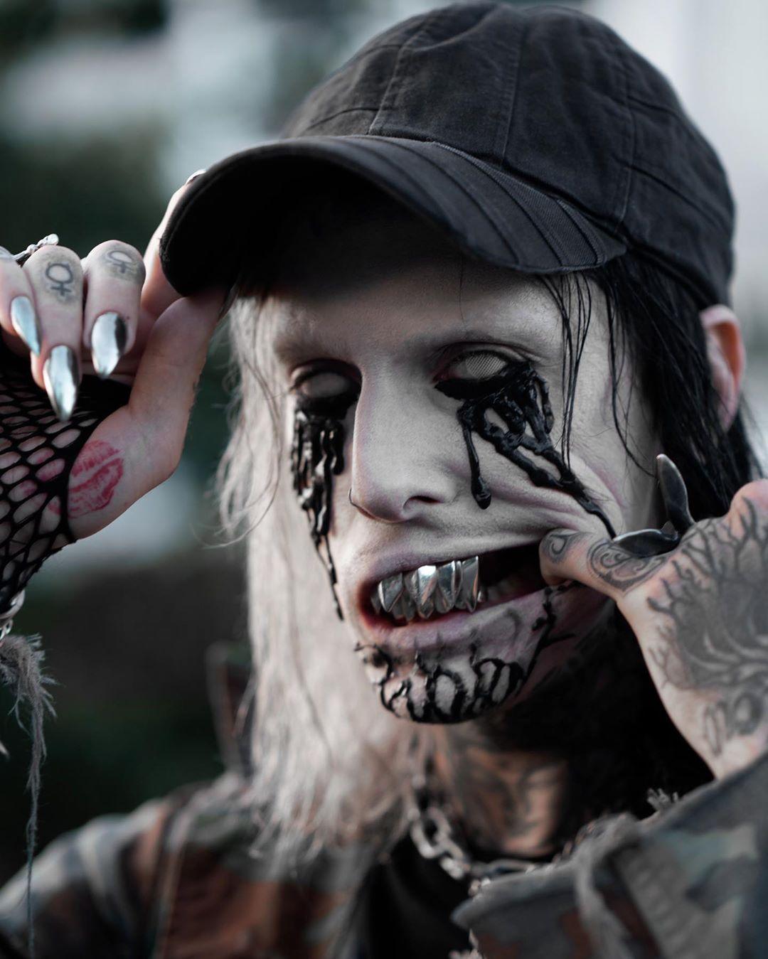 Зомби макияж Ghostemane