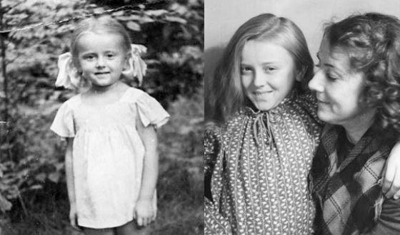 Маргарита Терехова в детстве