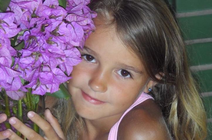 Ева Миллер в детстве