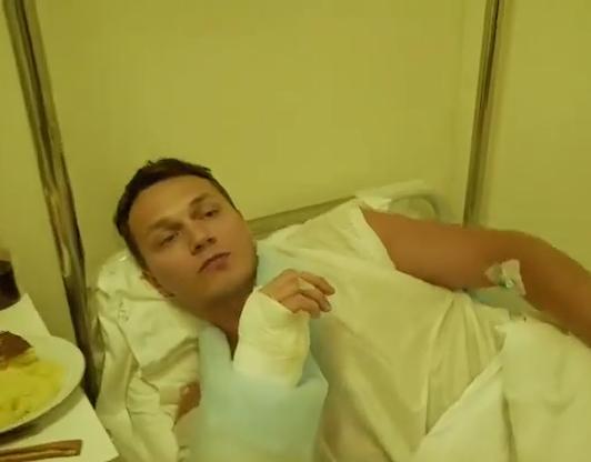 Артем Тарасов, сломанная рука