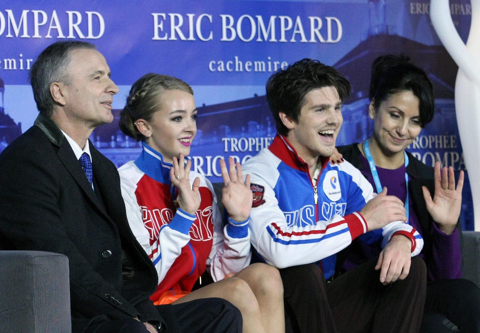 Степанова и Букин на соревнованиях