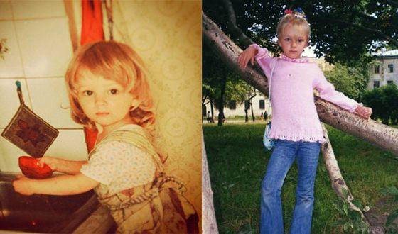 Детские фото фигуристки Александры Степановой