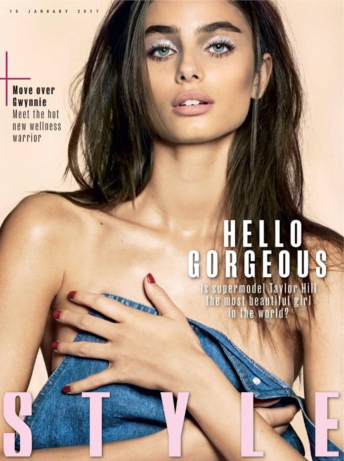 Тейлор Хилл на обложке Sunday Times Style