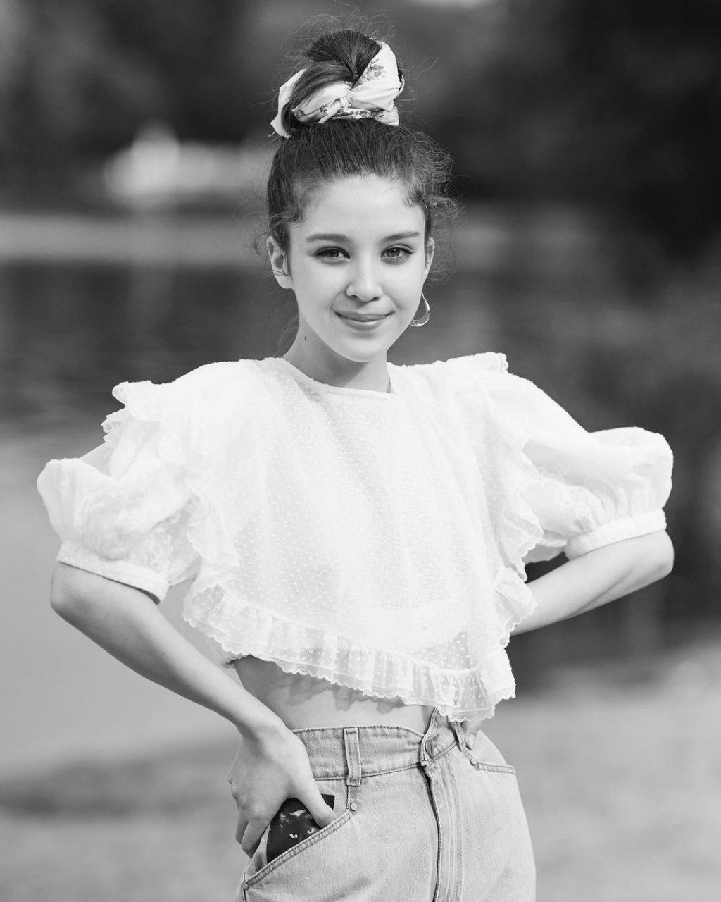Модельер Ульяна Сергеенко в подростковом возрасте