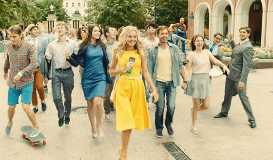 Екатерина Данилова в рекламе Alpen Gold